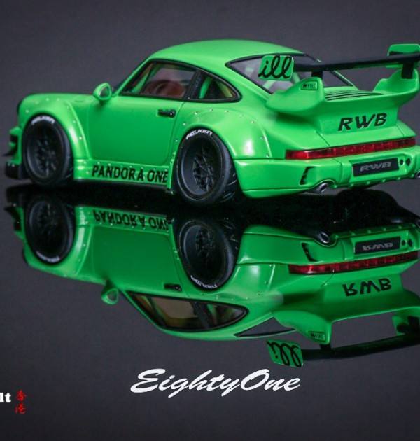 Rwb Pandora One Matte Green 1 43 Miniature Model Car Rauh Welt